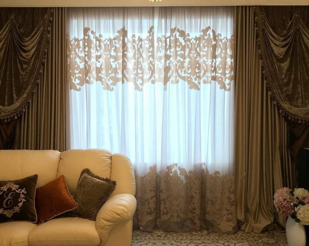 Пошив штор в классическом стиле ренессанс