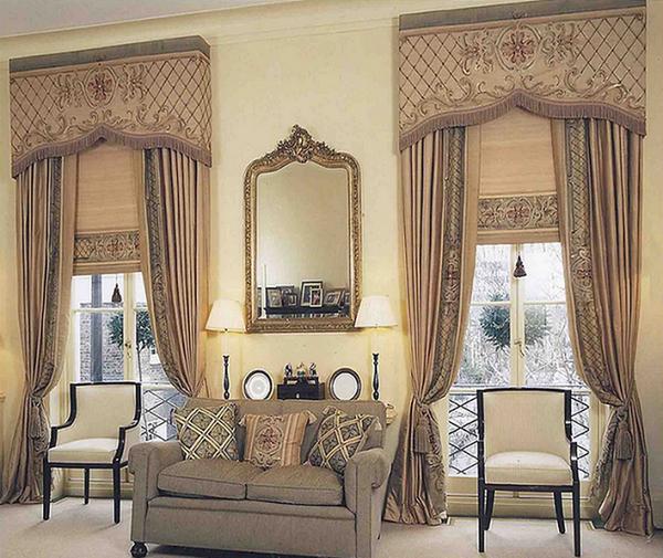 Римские шторы в стиле ренессанс