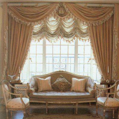 Французские шторы в стиле Ренессанс